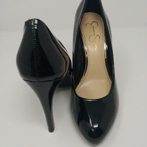 Jessica Simpson Shoes - Jessica Simpson Marya Black Patent Platform Pumps